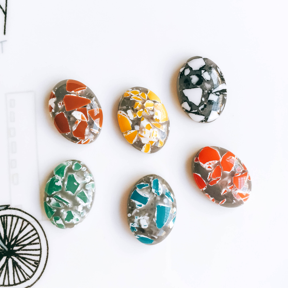 ZEROUP 20pcs 13x18mm Oval Resin Cameo Cabochons Mixed Color Cabochon  Setting Supplies for Jewelry Accessories Flat dbcfd8dcd168