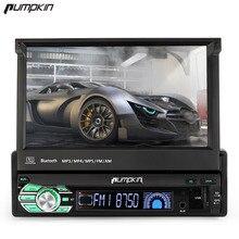 Тыквы 1 DIN Android 6.0 dvd-плеер автомобиля 7 дюймов Сенсорный экран автомобиля Радио GPS навигации Bluetooth стерео no dvd Wi-Fi бесплатная Географические карты 3 г