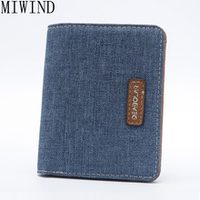 MIWIND Brand 2017 Vintage Man Wallet Male Slim Leather Wallets Thin Money Dollar Card Holder Purses for MenTLR073