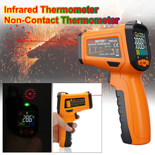 PEAKMETER PM6530 Handheld Digital Infrared Thermometer Gun with Humidity & Dew IRT K-type Non-Contact Thermometer-50~300/500/800