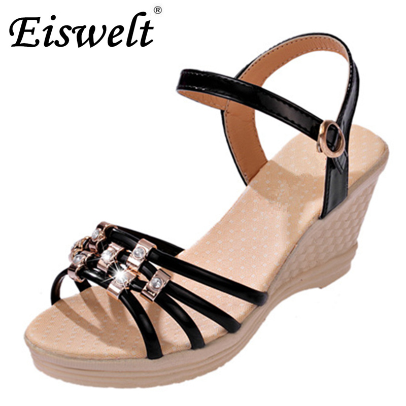 Eiswelt Fashion Women Sandals Summer Shoes Women Open Toe Sandals#ZJF16 eiswelt 2017 fashion women gladiator sandals outdoor casual summer shoes ladies female open toe platform shoes woman sandals lq3