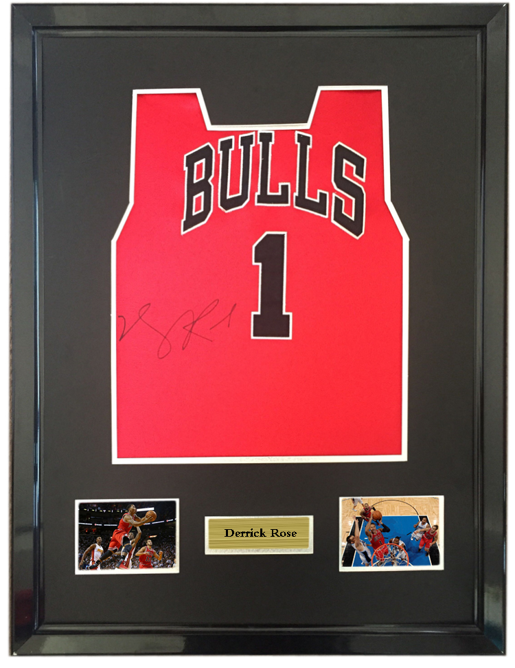release date: fe698 3f852 US $750.0 |Derrick Rose signed autographed basketball shirt jersey come  with Sa coa framed Bulls-in Frame from Home & Garden on Aliexpress.com | ...