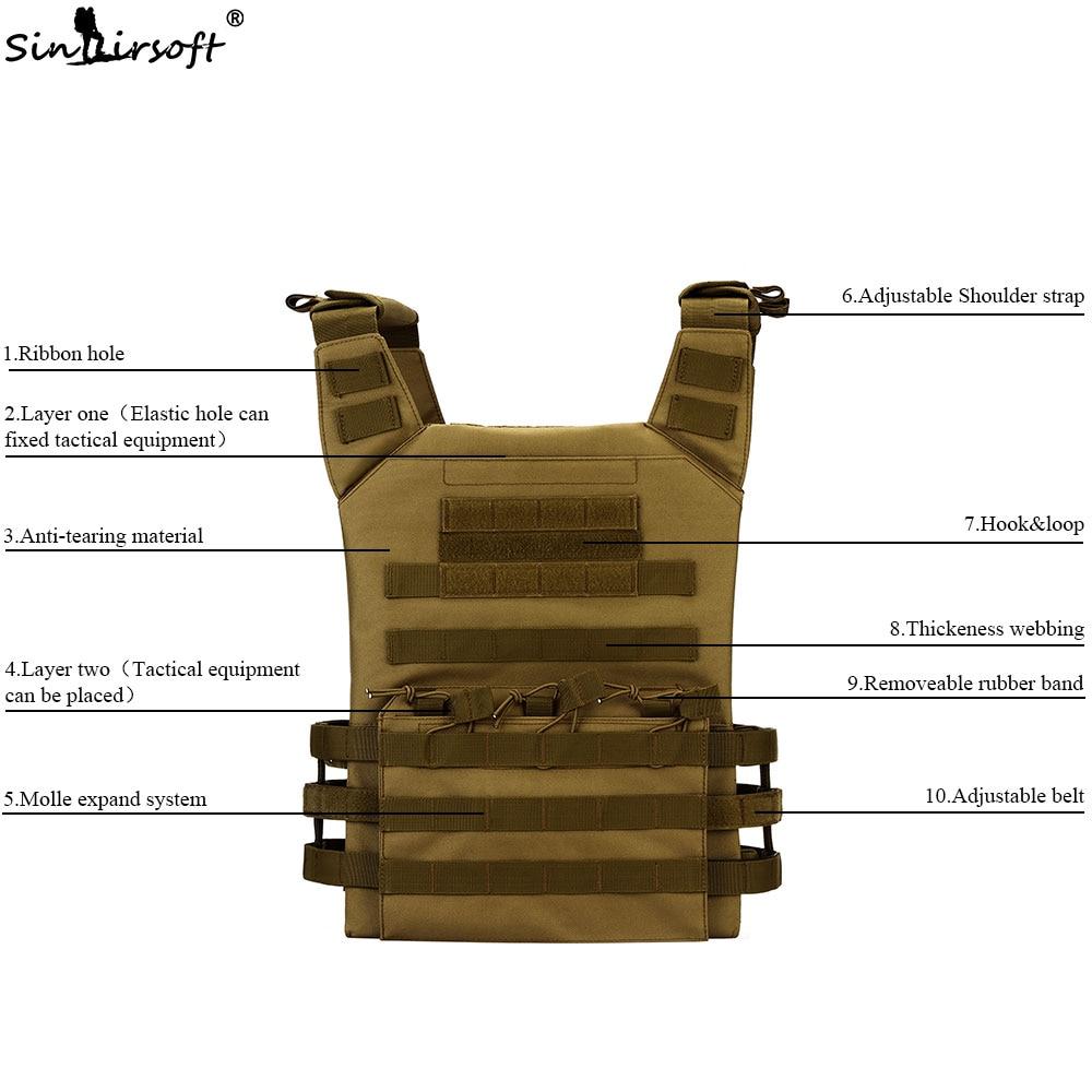 Chalecos tácticos JPC chaleco Molle Airsoft militar de Nylon bolsas ...