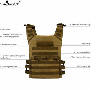 Tactical Vests JPC Vest Molle Airsoft Nylon Military Gear Pouches Adjustable Hunting CS Amphibious Army Shooting Vest Paintball