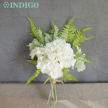 INDIGO- Exclusive Sales White Flower Bouquet Set Arrangement Hydrangea Artificial Party Event