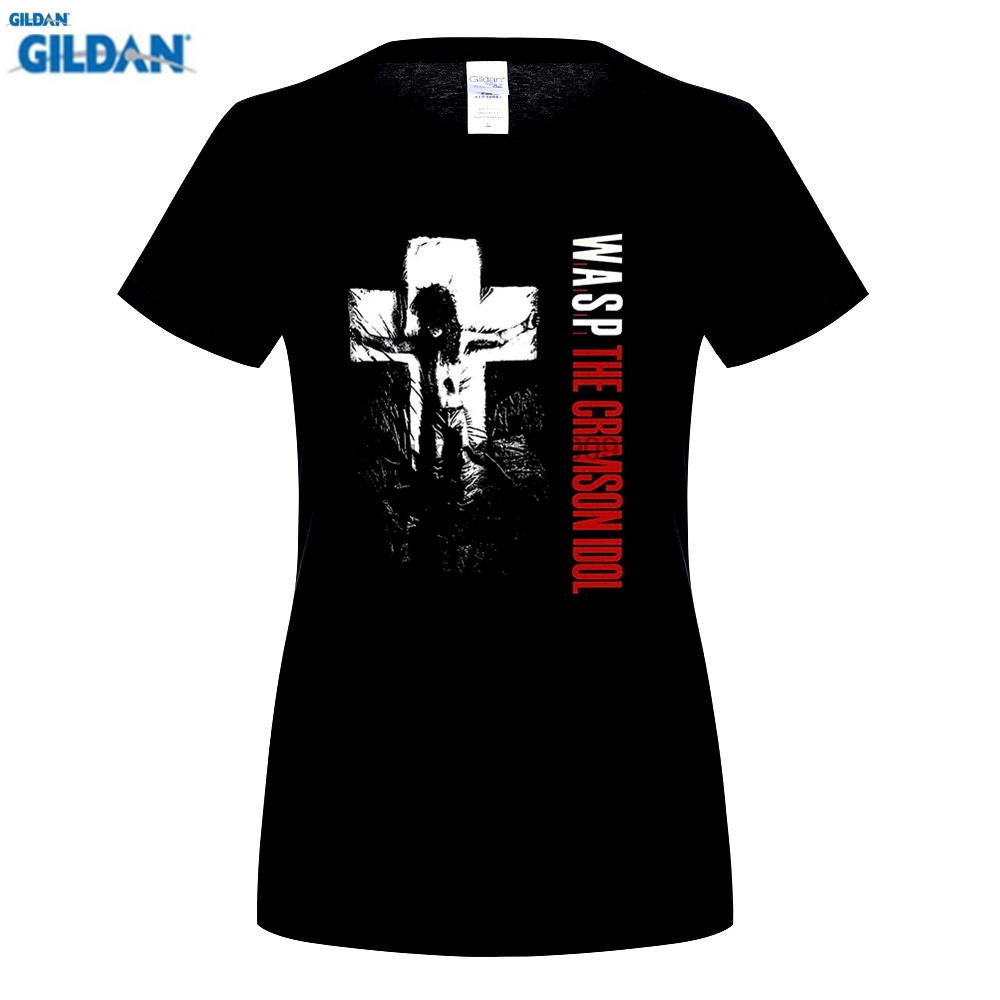 GILDAN W.A.S.P. CRIMSON IDOL92 WASP HEAVY METAL BAND TWISTED SISTER BLACK T-SHIRT Clothing Tops Hipster Fashion T Shirt
