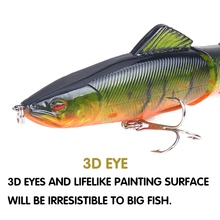 SEAPESCA Popular Fishing Lure 130mm 18g Multi Jointed Sections Hard Bait Artificial Crankbaits pesca Wobblers JK56