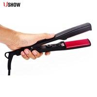 110 240V Ceramic Hair Straightening Iron Flat Iron LED Hair Tools Professional Curling Hair Straightener Curler