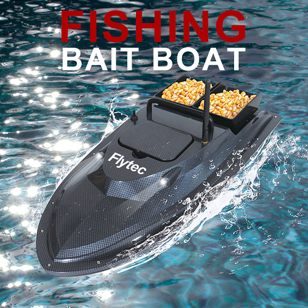 Flytec V007 Outdoor Fish Finder Fishing Bait Boat Fishfinder RC Fishing Nesting Boat Fixed Speed Cruise