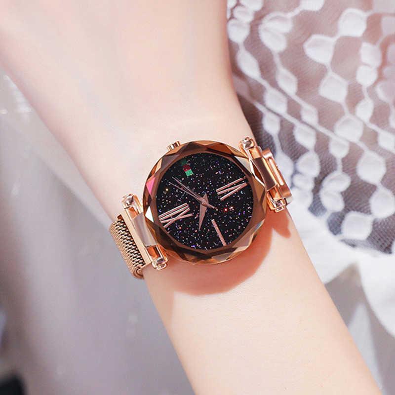Diamond Starry Sky Watches Luxury Ladies Brand Quartz Dress 2019 Hot Relogio Feminino Alloy Watchband Fashion Clock Watch