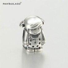 Vintage Charm Girl Beads Fit Pandora Charms Pulsera Plata 925 Original para Las Mujeres de Plata de La Manera DIY 925 Fabricación de Joyas