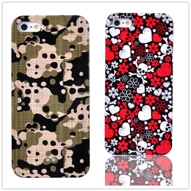 Fashion IMD Cell Phone Case for iPhone 5S Heart Ballo Printing Plastic Cover Cases for iPhone 5 SE Colorful Hard Back Case Coque
