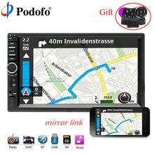 """Podofo 2 din auto radio 7 """"Bluetooth Car Multimedia Lettore MP5 Touch Screen Autoradio Audio Stereo FM USB Con videocamera vista posteriore"""