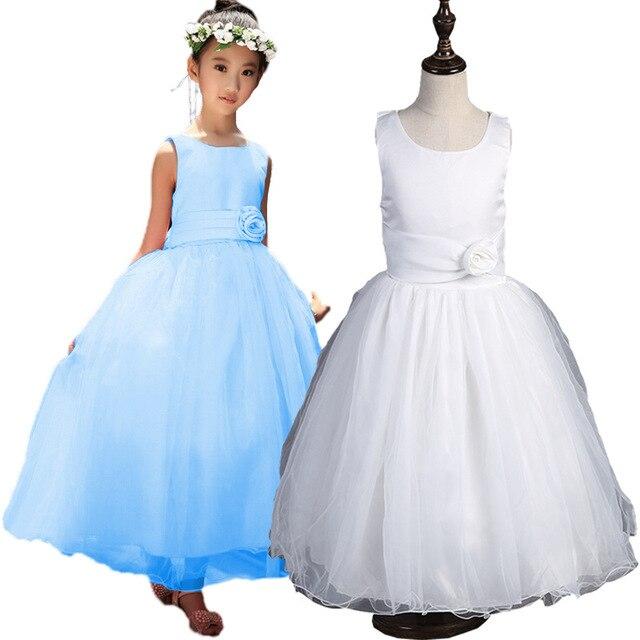 Aliexpress Buy New Kids Wedding Dresses Formal Ball Gown Girls