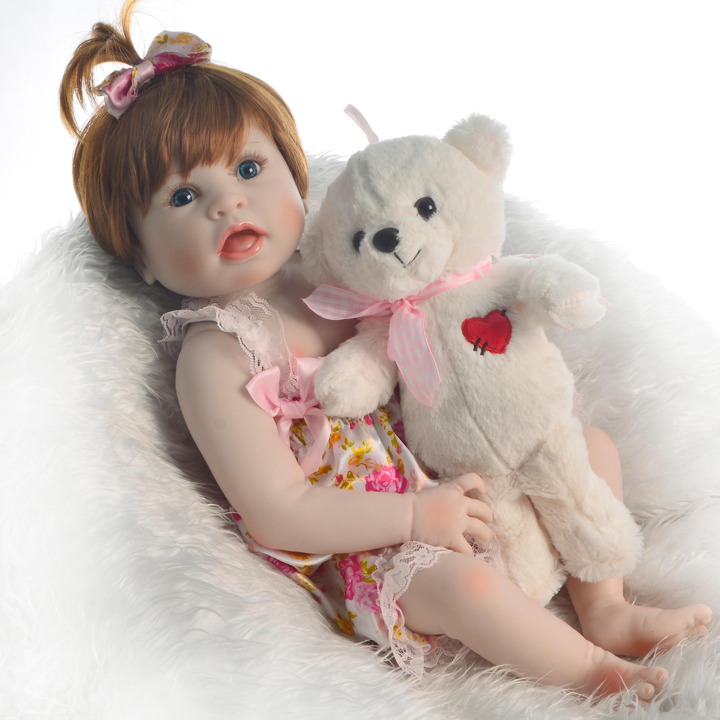Ręcznie Reborn lalki dla dzieci zabawki 23 ''57 cm pełna silikon winylowe ciała symulacja Reborn dzieci moda noworodka lalki dla dzieci prezent na boże narodzenie w Lalki od Zabawki i hobby na  Grupa 3