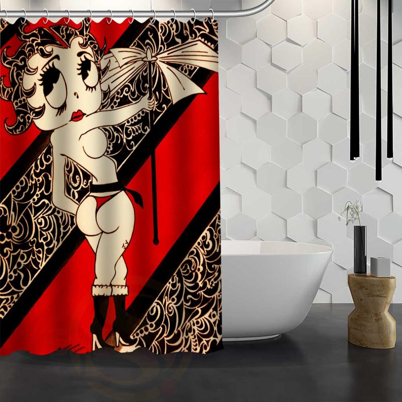betty boop shower curtain. Aliexpress com  Buy Betty Boop Shower Curtain Pattern Customized Bathroom Fabric For Decor Hsq326019s from Reliable custom shower