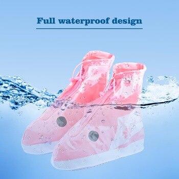 4 цвета детский дождевик для обуви ПВХ защита для обуви многоразовые аксессуары для обуви Чехлы для обуви непромокаемые детские мальчики де...