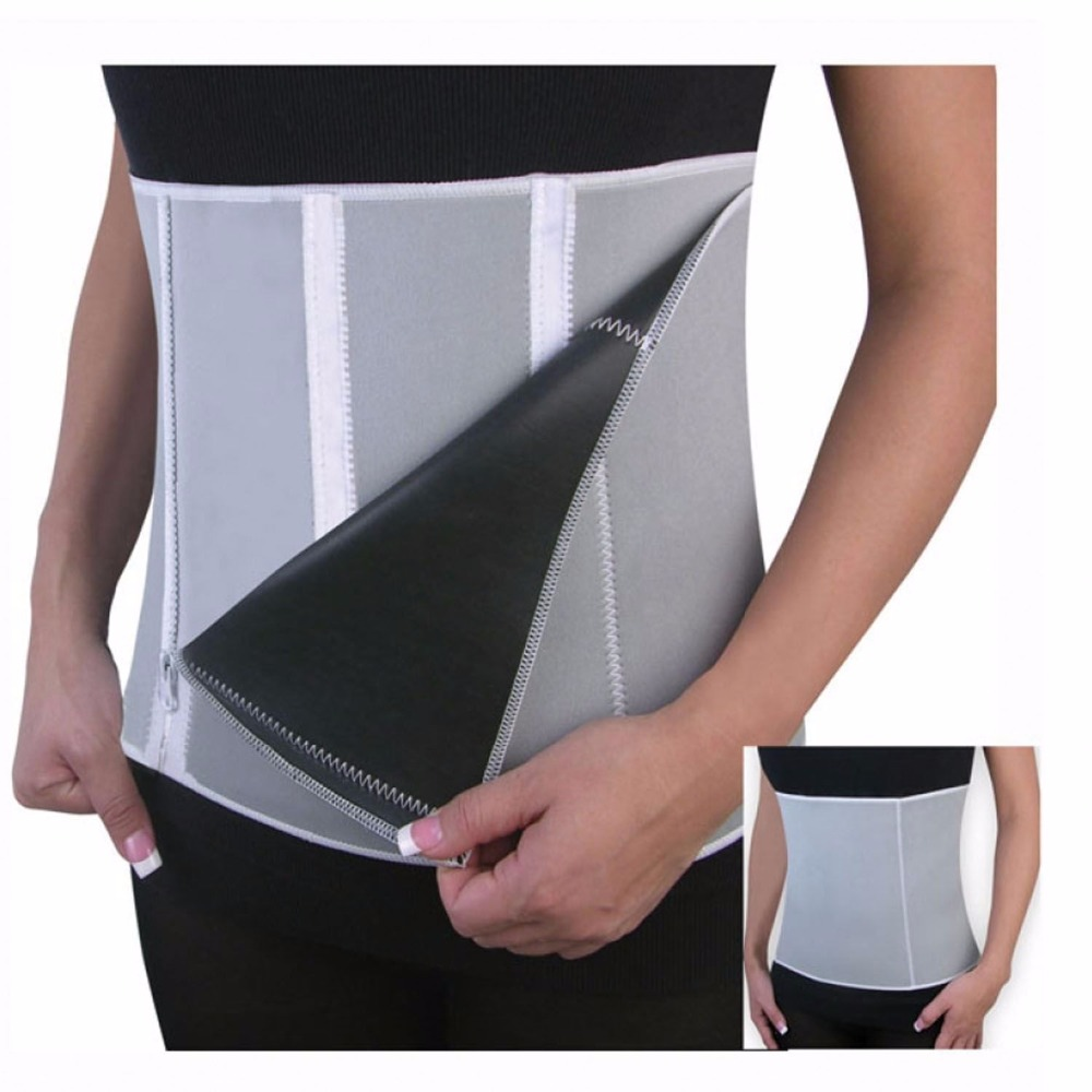 New Adjustable Sauna Slimming Waist  Belt Burn Belly Fitness Body Cellulite Burner Shaper Christmas Gift With 5 Zippers Wrap цена и фото