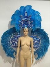 Latin dance Samba akcesoria moda wykwintne nakrycie głowy pióra delikatne pokazy tańca akcesoria odzież Samba