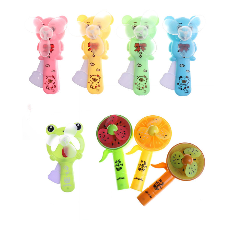 1PC Portable Mini Fruit Fan Hand Press Cooling Fan Kid Toy Gift Battery Operated