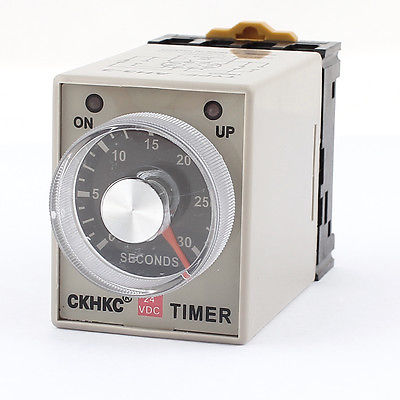 DC24V/DC12V/AC110V/AC220V  Delay Time DPDT 8 Pin 0-30 Seconds Solid-State Timer Relay AH3-3 omron new h3ba n8h time 1 2s to 300h 48 48mm multifunctional solid state timer relay 8pin ac 220v 50 60hz