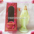 (25 unidades/pacote) 10.5 cm plástico barato crescer no escuro luminous santo religiosa estátua de maria, CITA LUZ SENHORA