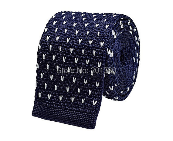 2019 randig stickad slips mager halsband för män ull Virka vuxna - Kläder tillbehör - Foto 1