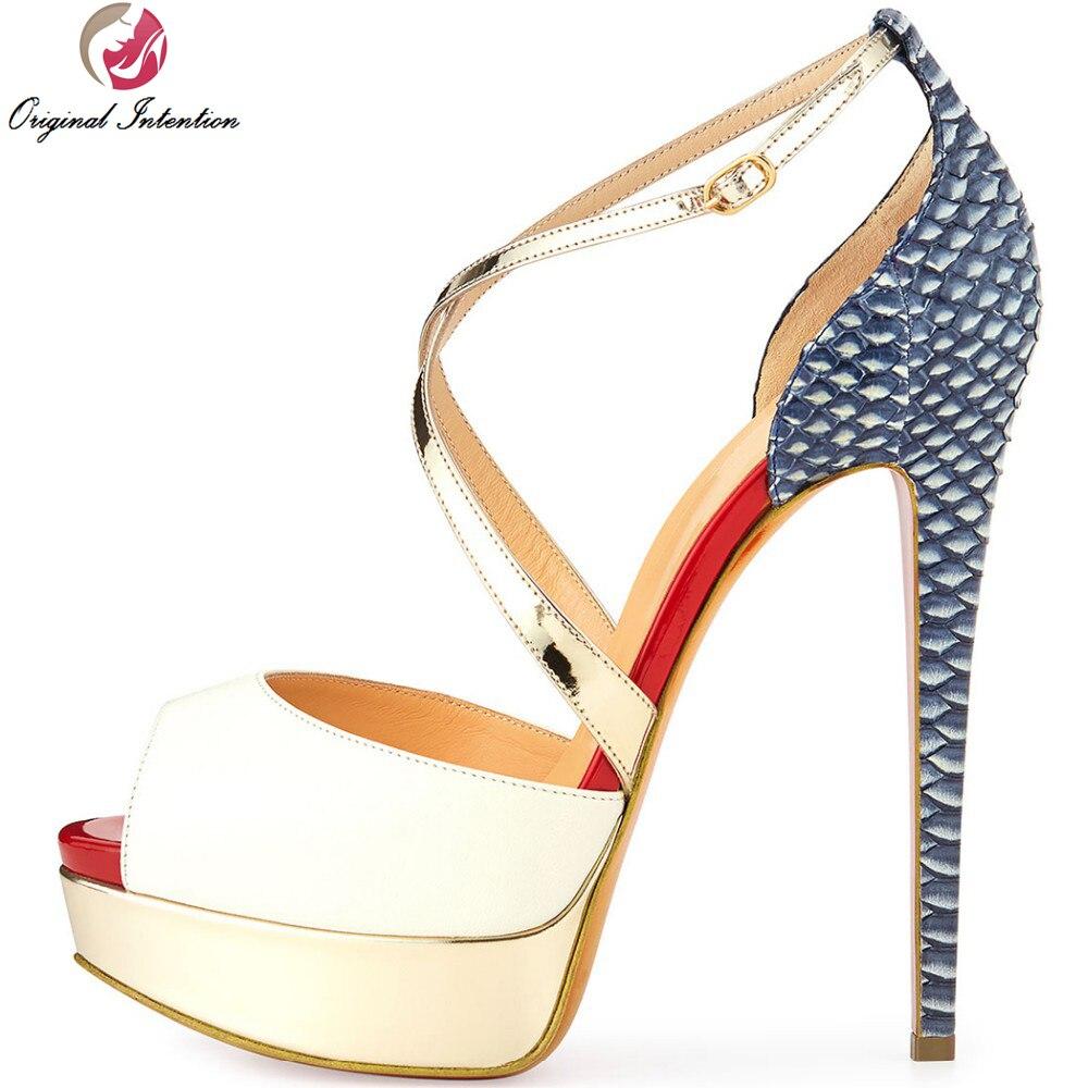 Black nice sandals - 3 Colors Super Fashion Women Sandals Nice Platform Thin Heels Sandals Nude Black White High