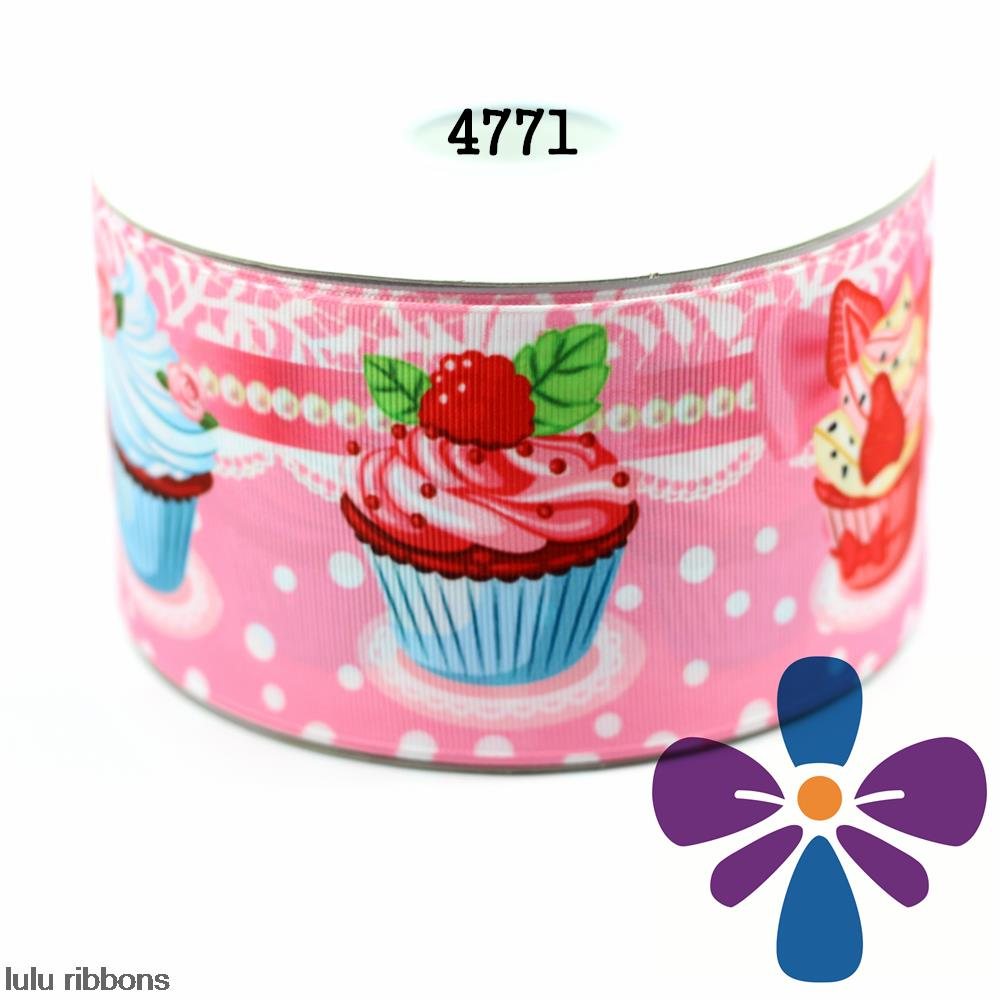 3 75mm Strawberry Ice Printed Grosgrain Ribbon DIY Handmade Hair Bow Hair Clips Hair Accessories 50
