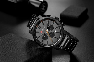 Image 3 - CURREN Casual Quartz Analog Mens Watch Fashion Sport Wristwatch Chronograph Stainless Steel band Male Clock Relogio Masculino