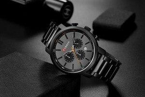 Image 3 - CURREN повседневные кварцевые аналоговые Мужские часы модные спортивные наручные часы с хронографом из нержавеющей стали мужские часы Relogio Masculino