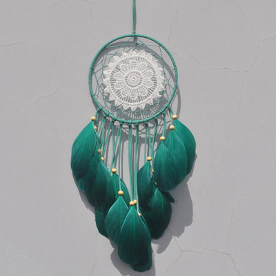 Hand woven/creative feather dreamnet pendant/wedding decoration dreamnet pendant/Nordic style wall hanging family decoration