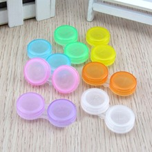 Wholesale 100pcs/lot Glasses Cosmetic Contact Lenses Box Contact Lens Case for Eyes Care Kit Holder Container