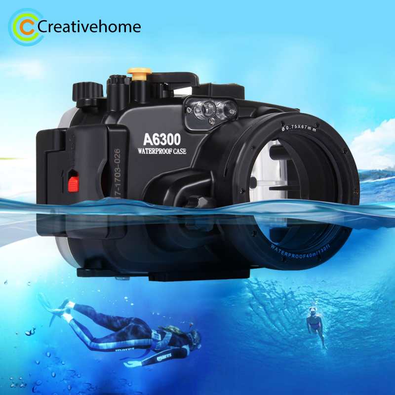For A6300 Case Waterproof 40M/130ft Underwater Camera Diving Housing Bag For s R/ II RX100 IV Camera