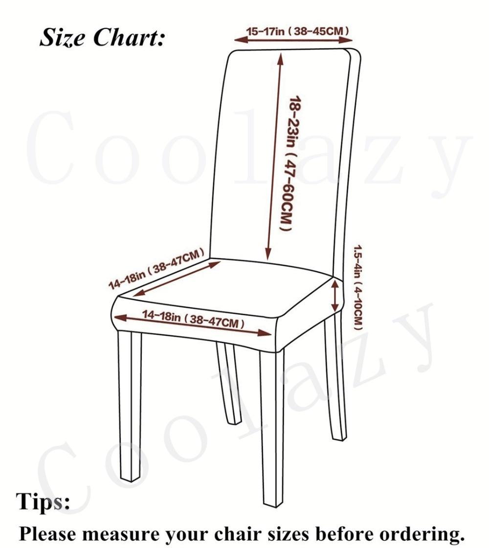 Taille de nos housses de chaise et table