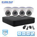 CCTV Camera DVR System Standalone Kit 4 Channel CCTV DVR HVR NVR 3 in 1 Video Recorder 4pcs 700TVL Infrared Dome Camera Security