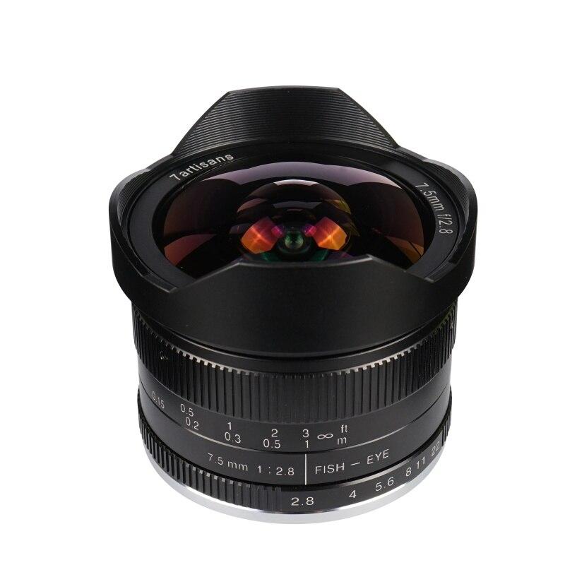 7 artesãos 7.5 milímetros F/2.8 Wide Angle Lens Fisheye 180 Graus Multi-revestido para Sony E Montar a9 A7 A7S A7RII A7SII A6300 NEX-7 Câmera