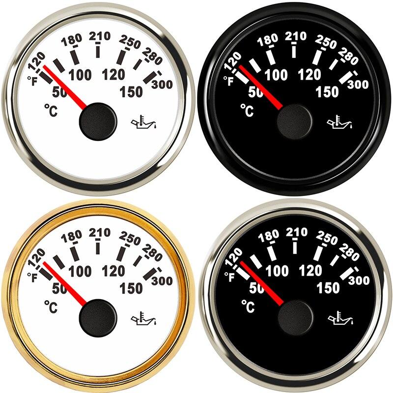 Автомобильные датчики 2 52 мм Датчик температуры масла измерительное устройство для транспортного средства черный корпус 12 В Автомобильная