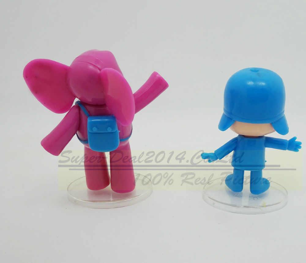 5 pçs/set Anime Dos Desenhos Animados Pocoyo Brinquedos Figuras de Ação PVC Dolls Presentes Brinquedos Criança