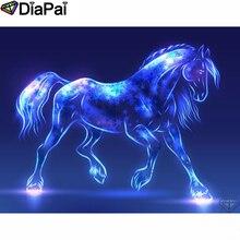 DIAPAI Diamond Painting 5D DIY 100% Full Square/Round Drill Animal horse Diamond Embroidery Cross Stitch 3D Decor A24555 diapai 100