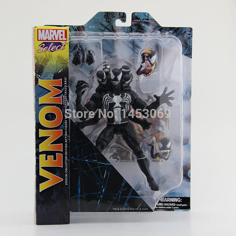 Free Shipping DST Marvel Select The Amazing Spider-man 2 Venom PVC Action Figure Collcetion Model Toy 21cm #SPM002 free shipping dst marvel select the amazing spider man spiderman 2 venom pvc action figure collcetion model toy 21cm spm002