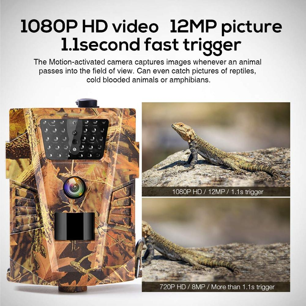 12MP Hunting Trail Camera Wild  Waterproof Night Vision Cameras HT001B Photo  Photo Traps Tracking Wildlife Surveillance