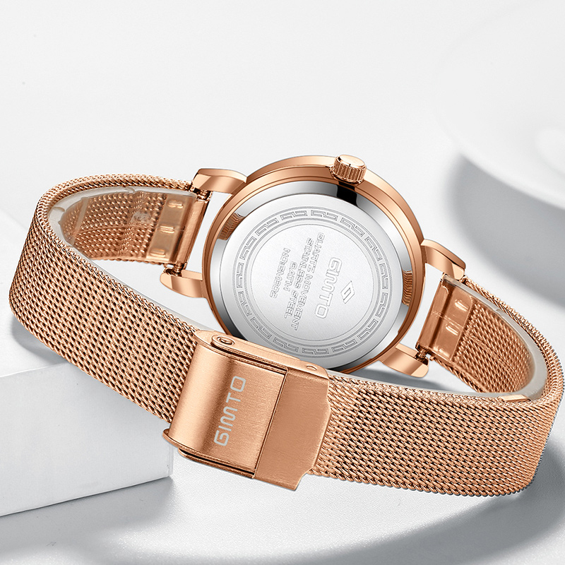GIMTO Mini Dress Women Watches Silver Brand Quartz Ladies Watch Fashion Girl Bracelet Wristwatch Relogio Feminino Montre Femme 4
