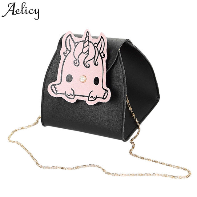 Aelicy 2018 Funny Unicorn Women Clutch Handbags Lady Wallet Shoulder Messenger Purse Party Small Bags