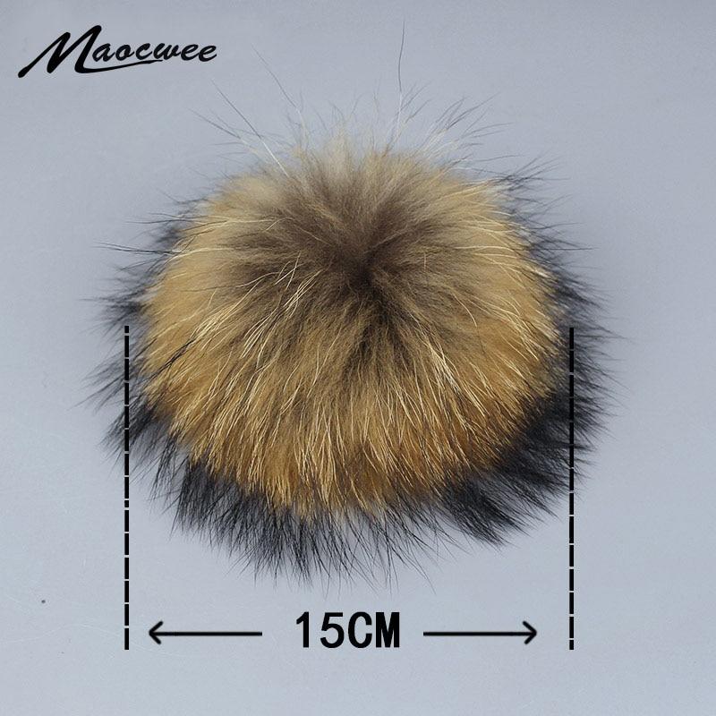 Помпоны из натурального меха енота, Меховые помпоны для вязаной шапки, брелки и шарфы, помпоны из натурального меха