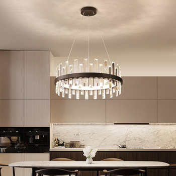 Moderna ha portato lampadari hanging luci di cristallo per la casa soggiorno sala da pranzo di illuminazione A85-265V luce della Cucina lampada lampadario