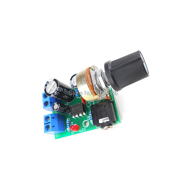 US $1 38 |0 5W 10W LM386 Audio Power Amplifier Board DC 3V 12V 5V Mini  Audio AMP Module Adjustable Volume-in Replacement Parts & Accessories from