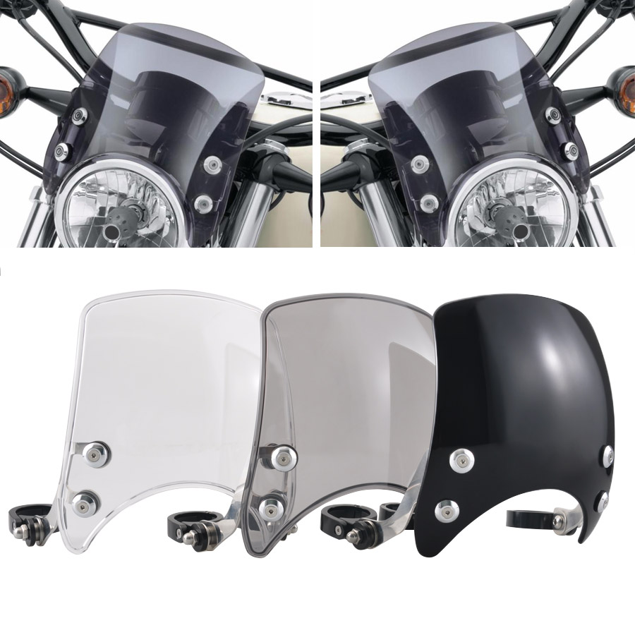 Motorccle Adjustable Custom Compact Sport Wind Deflector Windshield Fits For Harley Sportster 04 Up XL883 XL1200 Series Models    1