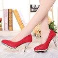 2017 Мода на Высоких каблуках обувь Женская Весна Осень Тонкие Каблуки Сладкий стиль Повседневная обувь Белый Розовый и Красный цвета