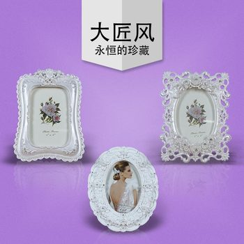 A big wind designer models of classical European style pearl white diamond a set of 3 commemorative photo lovers gifts